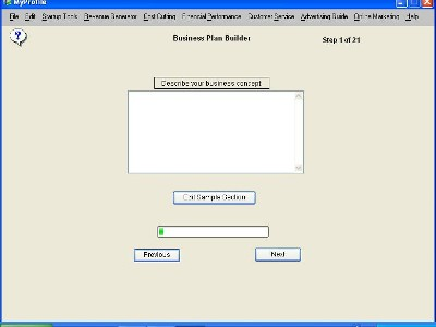Click to view Business Plan 1.7 screenshot