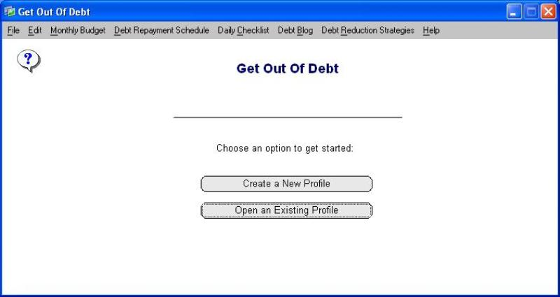 Click to view Get Out Of Debt 1.7 screenshot