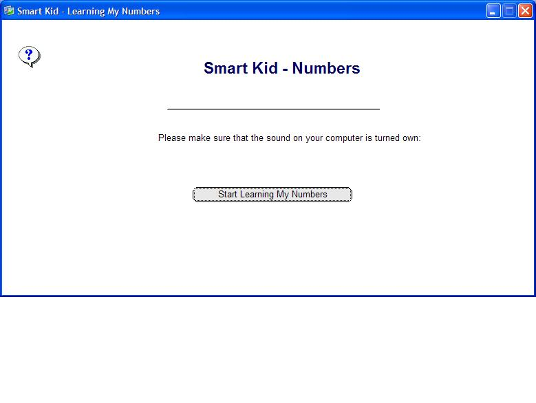 Click to view Smart Kid - Learning My Numbers 1.7 screenshot